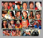 Official The Walking Dead Season 3 sketch cards by Kapow2003