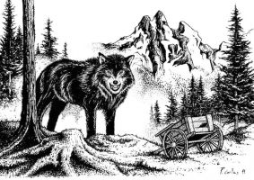 Fenris, Giant Wolf-God by Carles