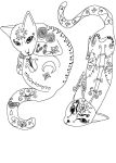 Relaxation Colouring Picture - Oriental Cats by KateWolfess