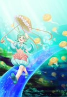 Underwater jelly adventure by Miau-nya