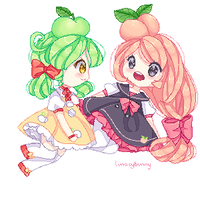 [OC] Konomu and Peach by lunacybunny
