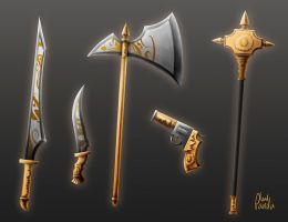 Victorian weapons by Leadpanda