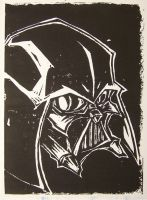 darth vader block print by mjfletcher