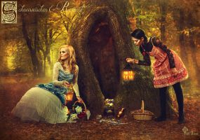 Snow White and Rose Red by LilifIlane