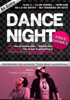 Dance Night- A5 Flyer Template by quickandeasy1