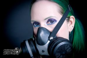 Pigtails and gas mask 4 by godsmistake