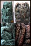 Larger Metallic Cthulhu Idol preview by CopperCentipede