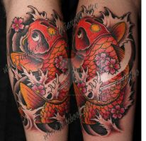 Koi Calf Watermarked by ChrisNettleTattoo