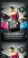 Cube Club Flyer by saltshaker911