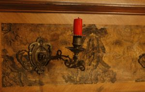 old candelholder with red candle by Nexu4