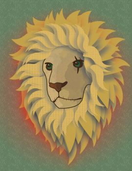 Experimental Lion by boringcolor