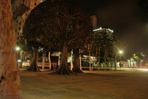 Bronze Tree in Urban Jungle by genocide2004