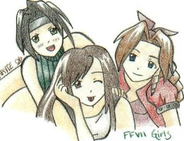 FFVII Girls by TheSpyWhoLuvedMe