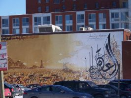 arabic graffiti in Montreal by moethebro