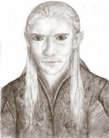 Portrait Practise - Legolas by springloaded
