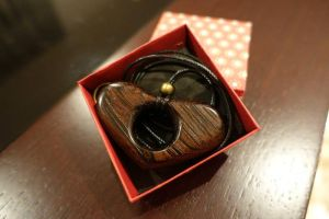 Heartshaped Wenge Pendant by JoseXC