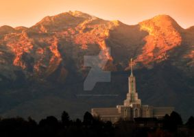Mt. Timpanogos Temple Orangish by houstonryan