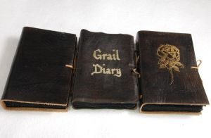 Black leather journals by gildbookbinders
