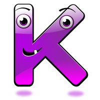 Smiley Alphabet - K by mondspeer