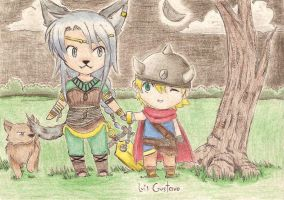 Fanart - Lei and Roki by Lowis13