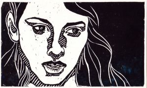 lino print by pepperpeeps