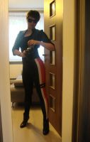 Commander Shepard civilian cosplay test flight 2 by Padzi