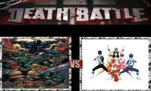 DEATH BATTLE Idea TMNT VS MMPR by JefimusPrime