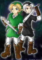 Link and Dark Link by The-Blue-Wind