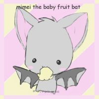. mimei the baby fruit bat . by saru--chan