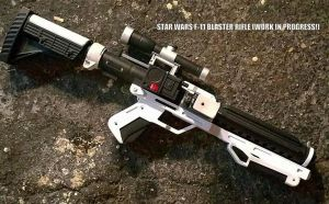 Star Wars TFA F-11 Blaster Replica WIP by JohnsonArms