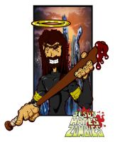 Jesus Hate Zombie by foulmouth