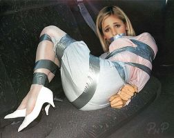 PNP Sarah Michelle Gellar Bound Taped by ArtT1000