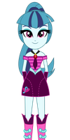 Sonata Dusk Standing Vector by PonyAlfonso