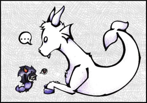 A Grublet and A Goatdad by Echidna-kid