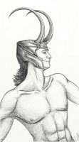 Shirtless Loki by Shashel