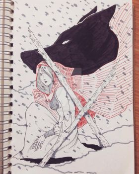 Red riding hood and the shadow of the wolf by Soturminationalize