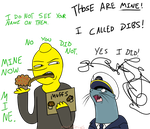 Lemongrab VS Neal McBeal by MochiFries