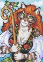 The Mouse Herder ACEO by stephanielynn