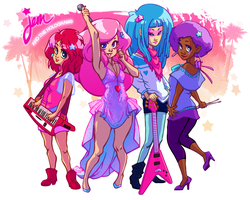 Jem Pitch: The Holograms by peach-mork