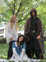 Aragorn, Legolas, and Arwen by scoldingspirit84