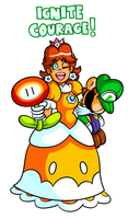 Commission - Daisy and Plush Luigi by JamesmanTheRegenold