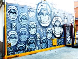 Urbanpainting carugate wall by orticanoodles