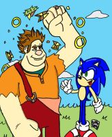 Lending Sonic a Wrecking Hand by SlySonic