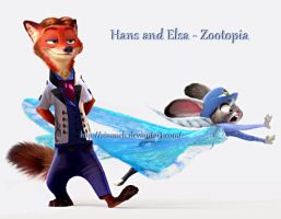 Hans and Elsa - Zootopia by Simmeh