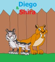 Diego and Shira poster by HunterxColleen