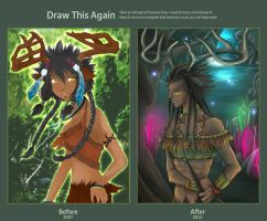 Draw this again: Ryria, Spirit of the Forest by AzureWarrior