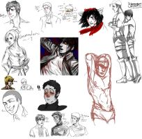 Shingeki no doodles by RapturesSaviour