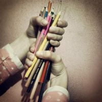 Colourful Pencils by MishUMuch