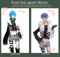 draw this again meme by TotoHiems