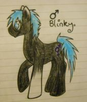 .:NEW PONY OC:. Blinky by HaterThePony